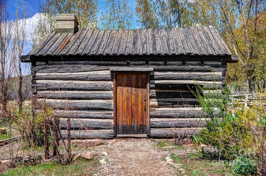 rustic pioneer log cabin salt lake city photograph by gary whitton. Black Bedroom Furniture Sets. Home Design Ideas
