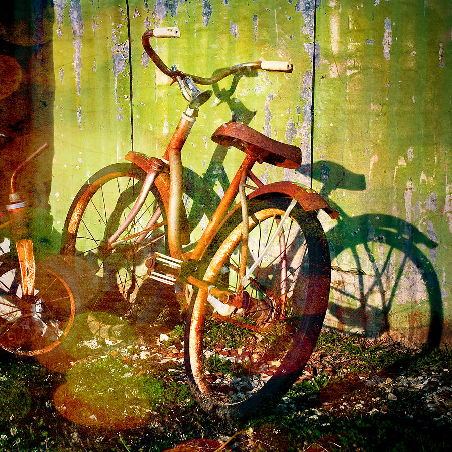 Rusty Bikes Photograph - Rusty Bikes by Sonja Quintero