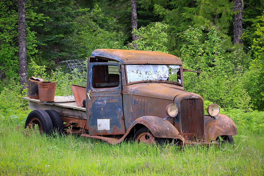 Rusty Chevy Photograph by Steve McKinzie