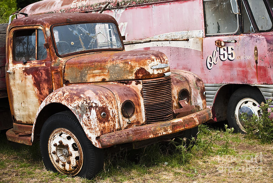 Abandoned Photograph - Rusty Commer  by David Lade