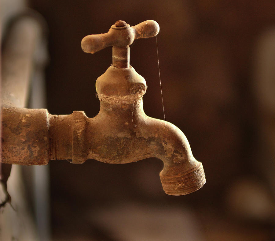 Rusty Faucet Photograph by Kevin Felts