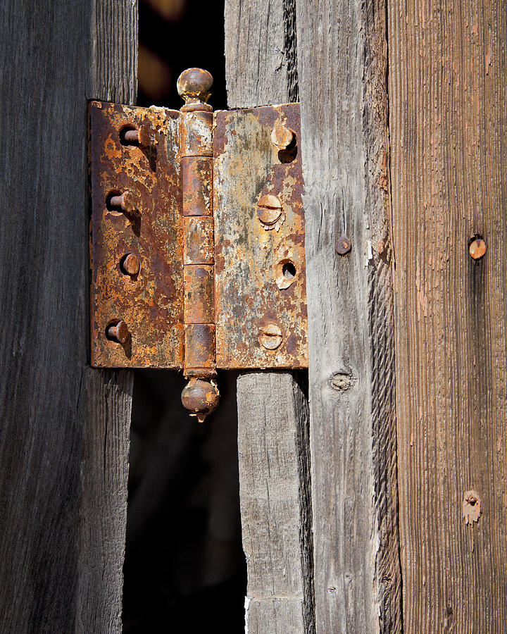 Rusty Hinge Photograph - Rusty Hinge by Kelley King