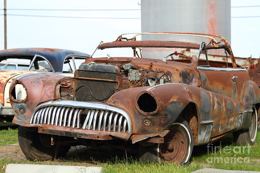 Rusty Old American Car . 7d10348 Photograph by Wingsdomain Art and ...
