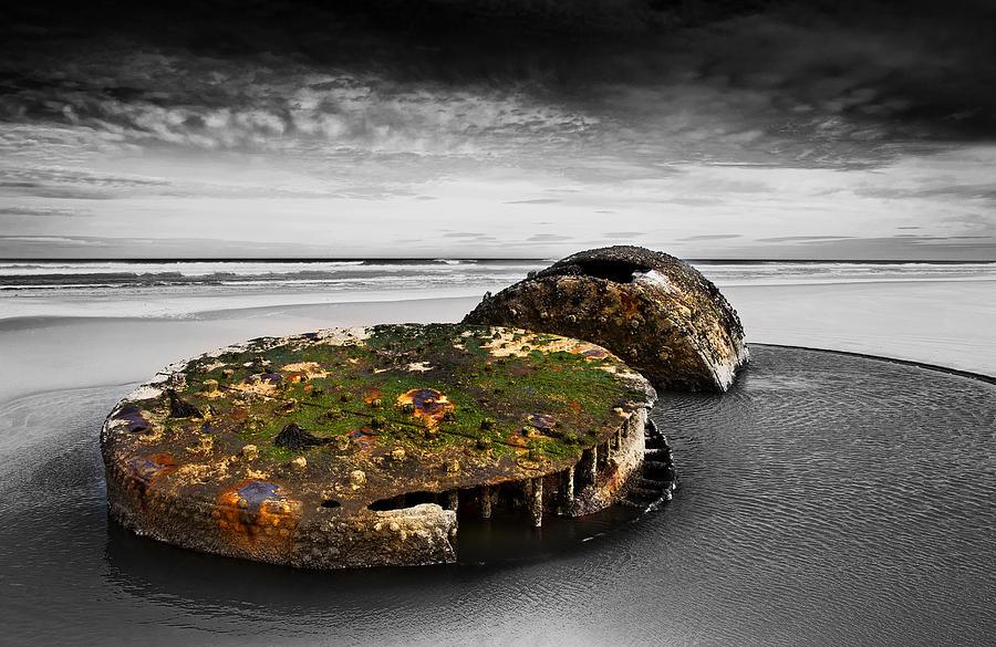 Bay Photograph - Rusty Parts Of Ship by Svetlana Sewell