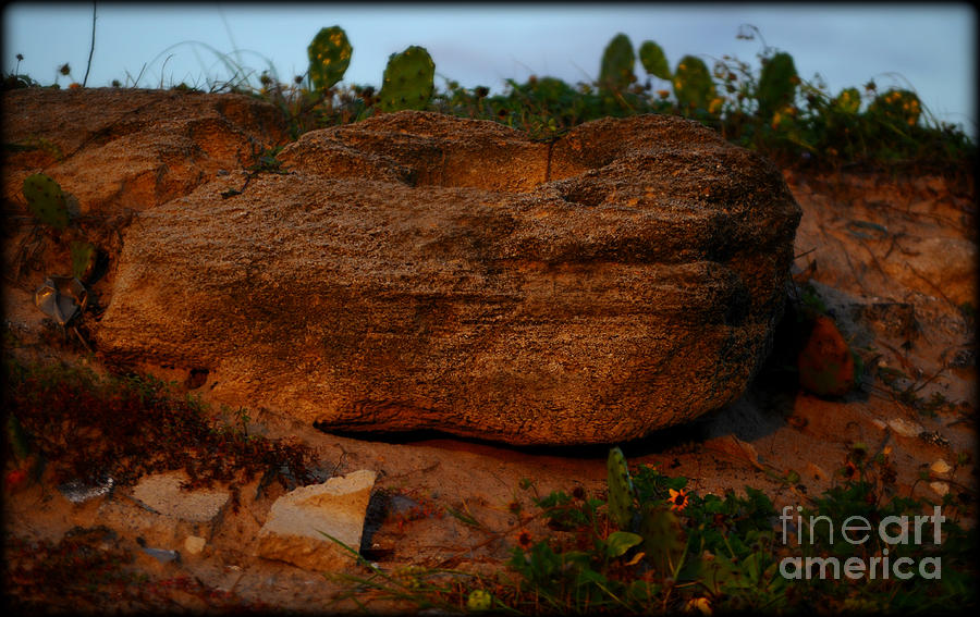 Rock Photograph - Rusty Serenity by Laura Ogrodnik