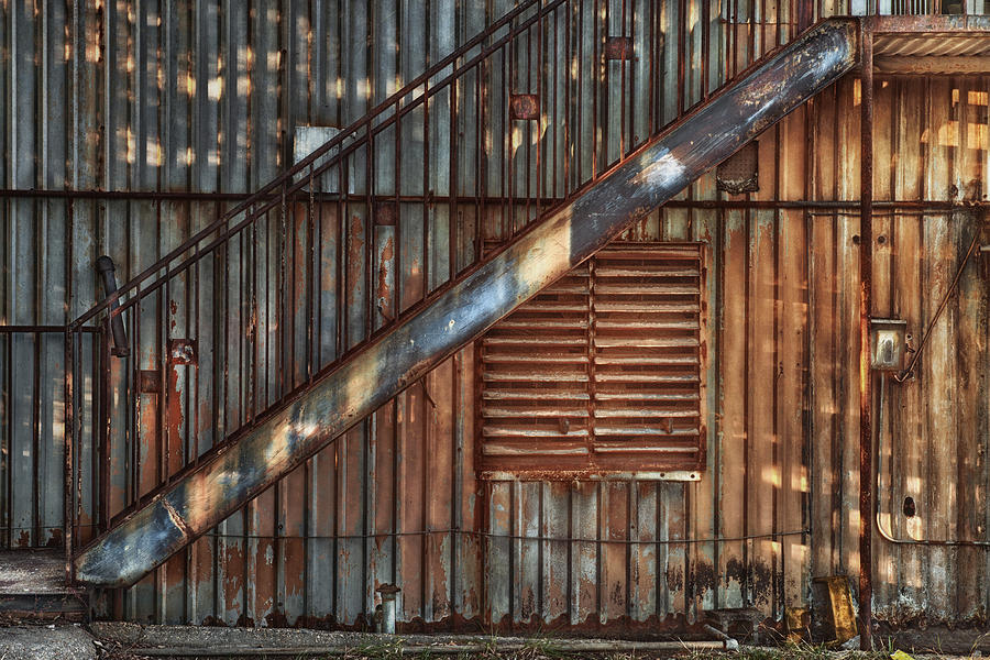 Stairs Photograph - Rusty Stairway by Brenda Bryant