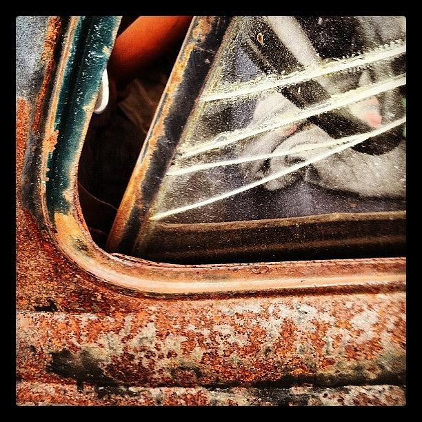 Rust Photograph - Rusty Viewpoint by Gwyn Newcombe