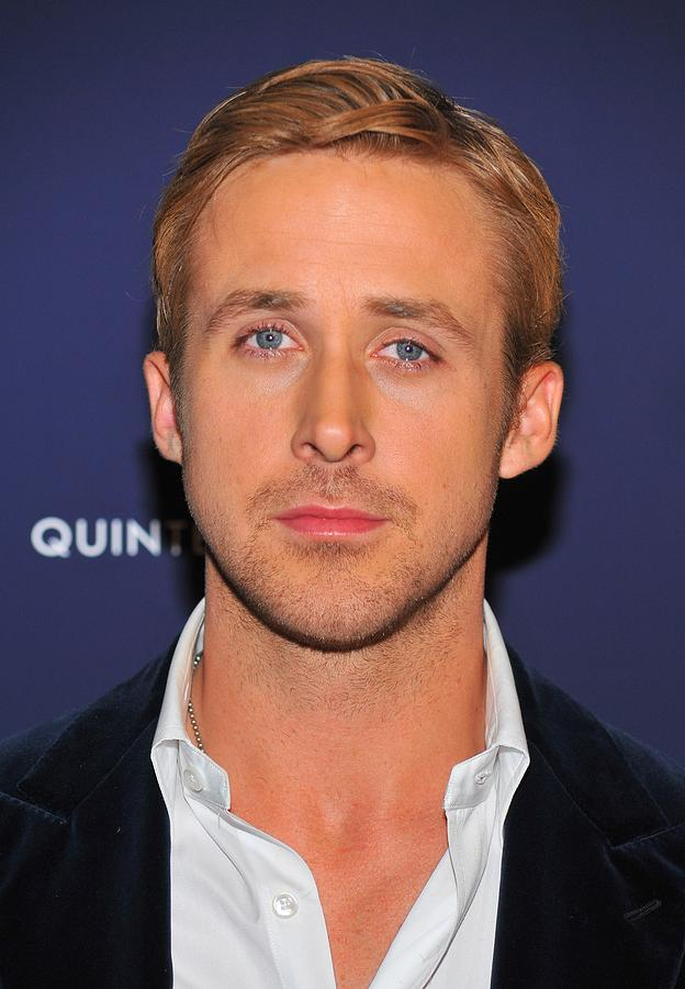 Ryan Gosling Photograph - Ryan Gosling At Arrivals For Blue by Everett