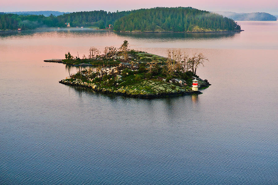 Baltic Photograph - Ryssmasterna Lighthouse Sweden by Marianne Campolongo