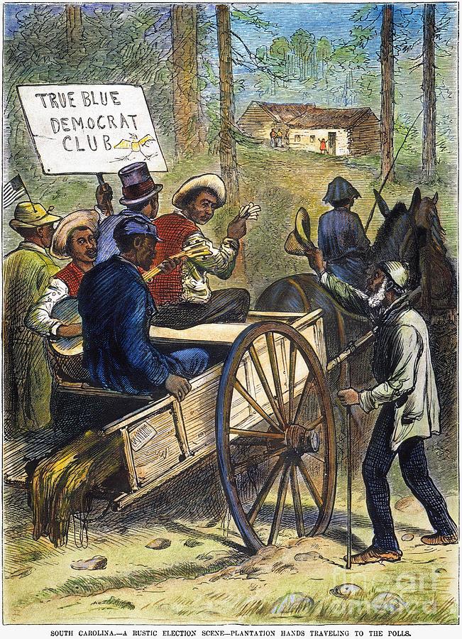 1876 Photograph - S. Carolina: Elections, 1876 by Granger