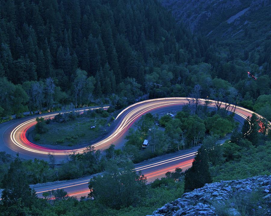 Horizontal Photograph - S-curve Lights by Ben Harvey Photography