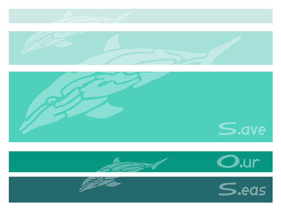 Dolphins Digital Art - S O S by William McDonald