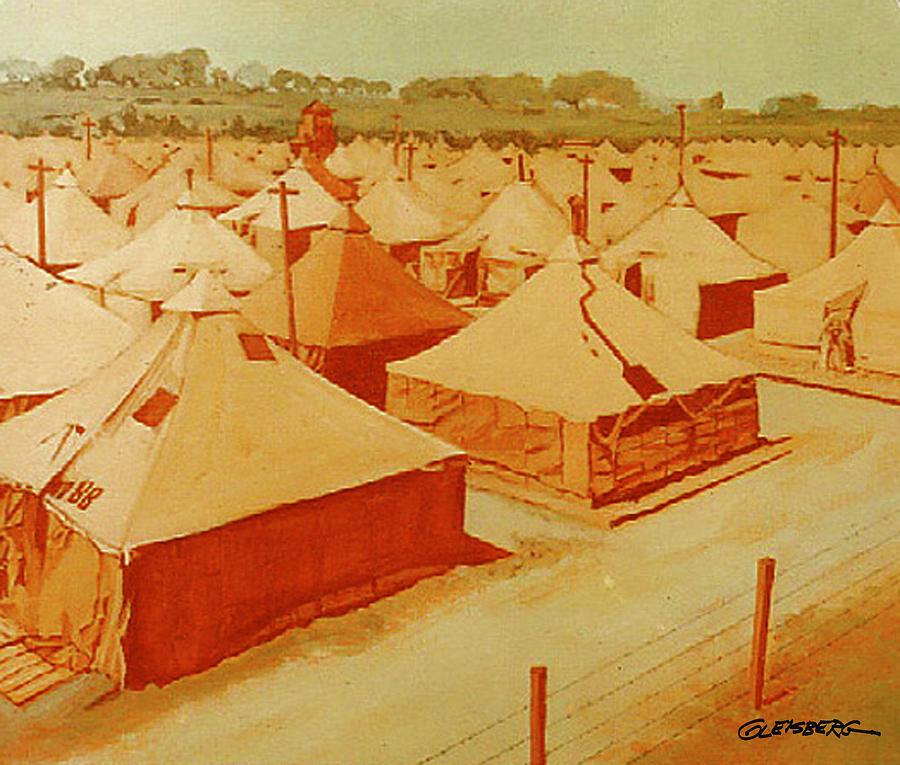 Sacramento Army Depot Painting - Saad Mural Panel 3 by Dean Gleisberg