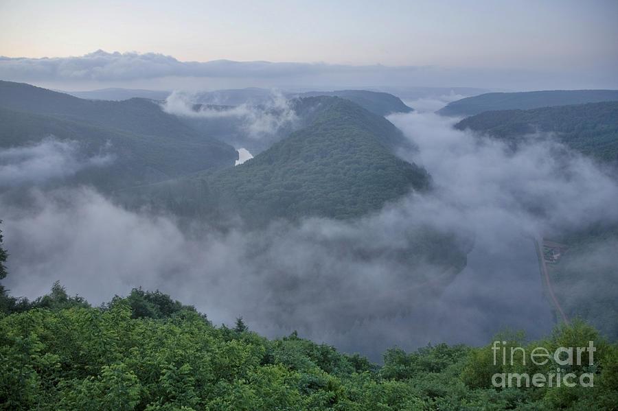 Europe Photograph - Saar Loop In The Morning Fog by Heiko Koehrer-Wagner