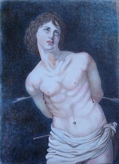 Sabastian Painting by Silvia Gold