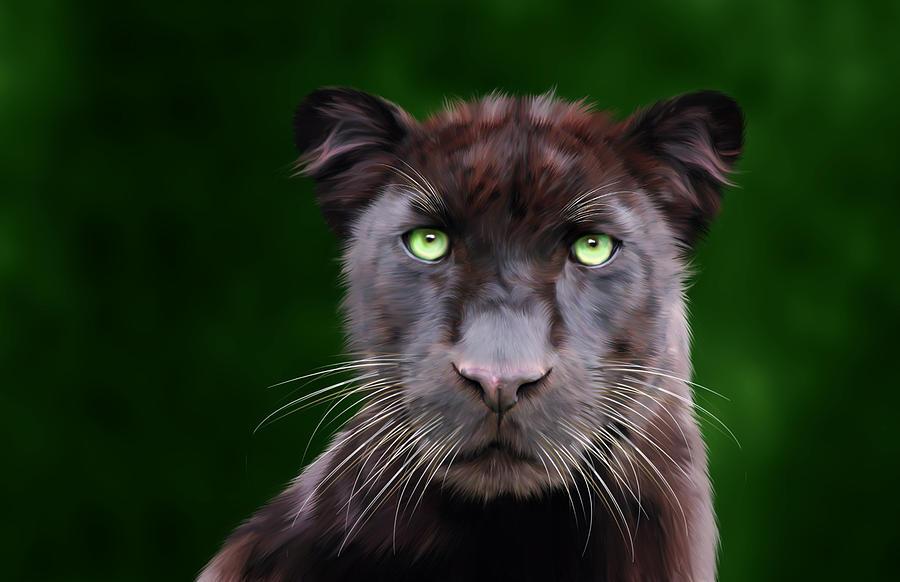 Saber Digital Art - Saber by Big Cat Rescue