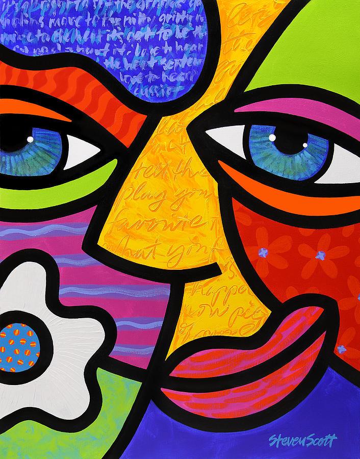 Eyes Painting - Sabrina Starr by Steven Scott