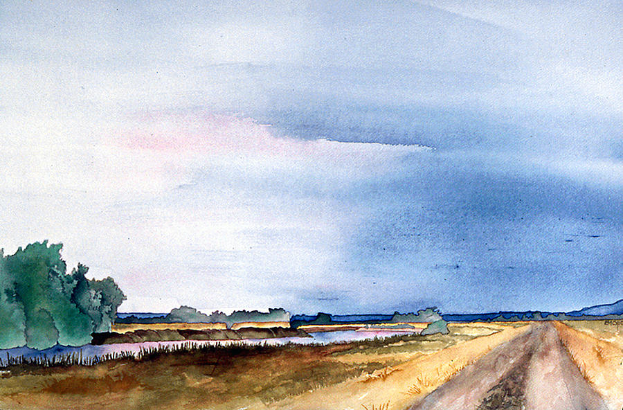 Landscape Painting - Sacramento River Road by Eunice Olson