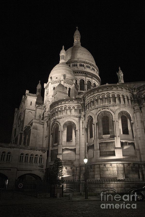 Sacre- Coeur Photograph - Sacre Coeur By Night Viii by Fabrizio Ruggeri