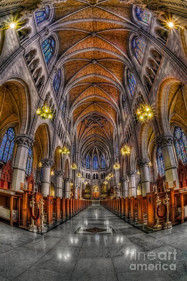 Altar Photograph - Sacred Heart Basilica by Susan Candelario