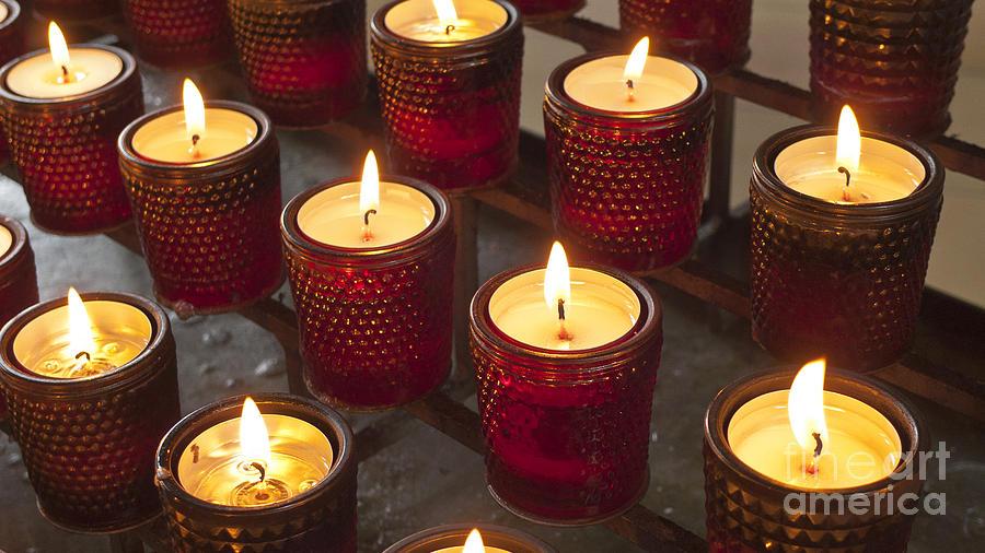 Sacrificial Photograph - Sacrificial Candles by Heiko Koehrer-Wagner