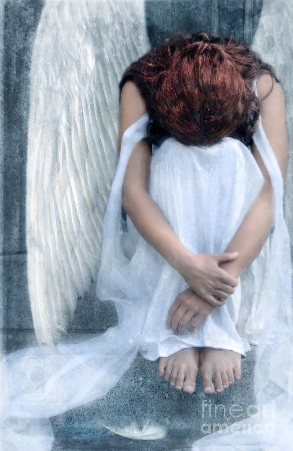 Sad Angel Woman Photograph By Jill Battaglia