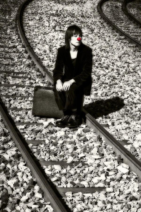 Clown Photograph - Sad Clown by Joana Kruse