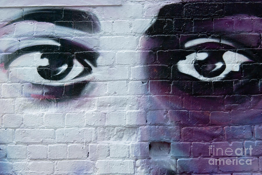 Sad Graffiti Eyes Painting By Yurix Sardinelly