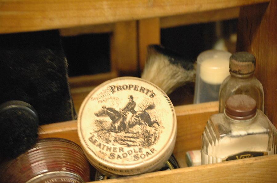 Antique Photograph - Saddle Soap by Liezel Rubin