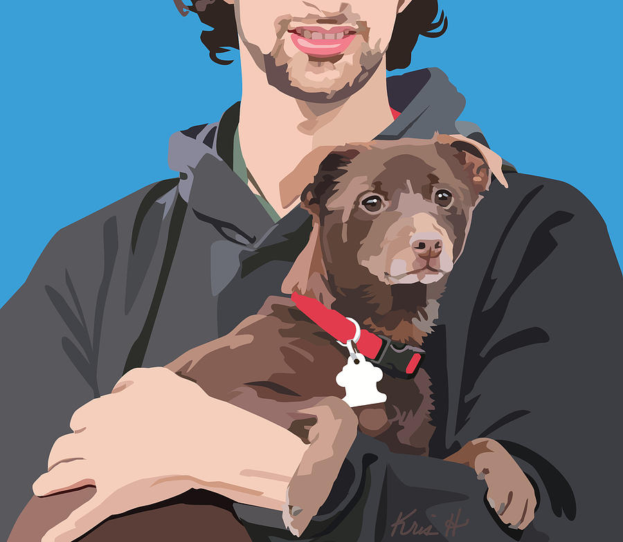 Terrier Mix Digital Art - Safe Place by Kris Hackleman