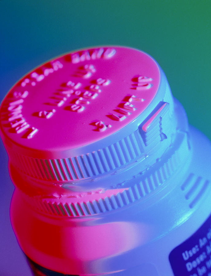 Safety Cap Photograph - Safety Cap On A Medicine Bottle by Steve Horrell