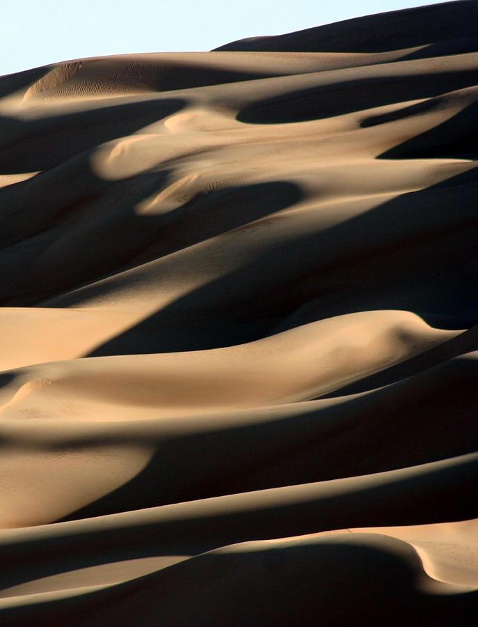 Vertical Photograph - Sahara Sand Shadows by Joe & Clair Carnegie / Libyan Soup