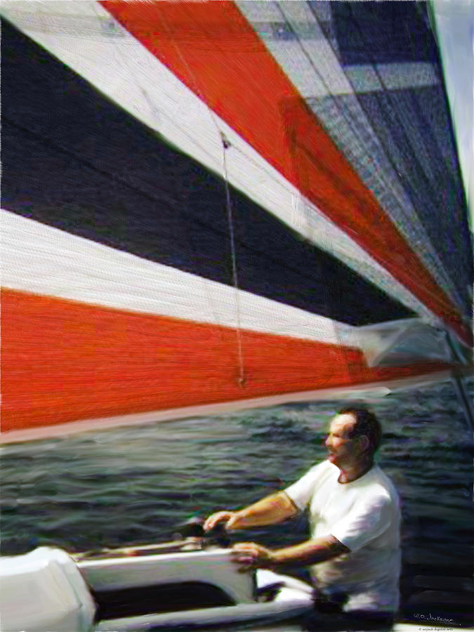 Sail Painting - Sail Away by Walt Jackson