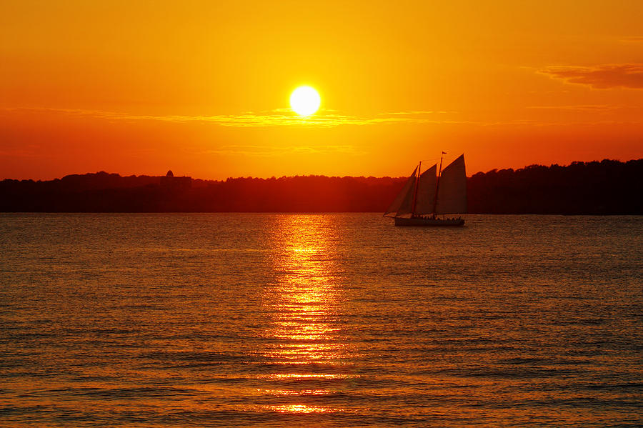 Sail Photograph - Sail Off Into The Sunset by Andrew Pacheco