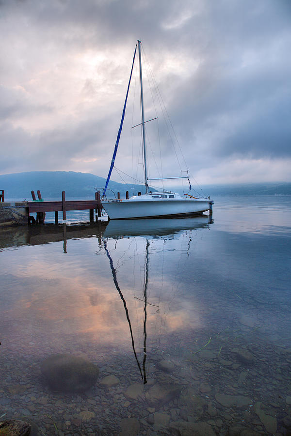 Boat Photograph - Sailboat And Lake I by Steven Ainsworth