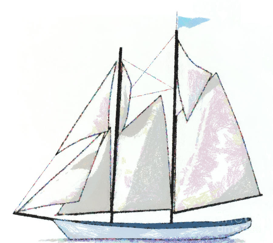 Sailboat Painting - Sailboat  by Anne Kitzman