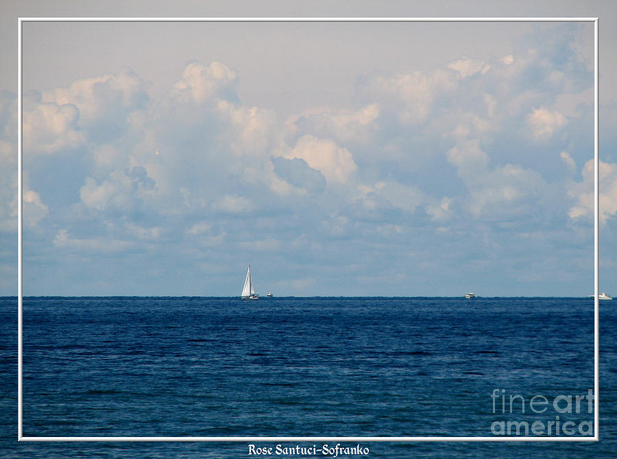 Sailboats Photograph - Sailboat On Lake Ontario by Rose Santuci-Sofranko