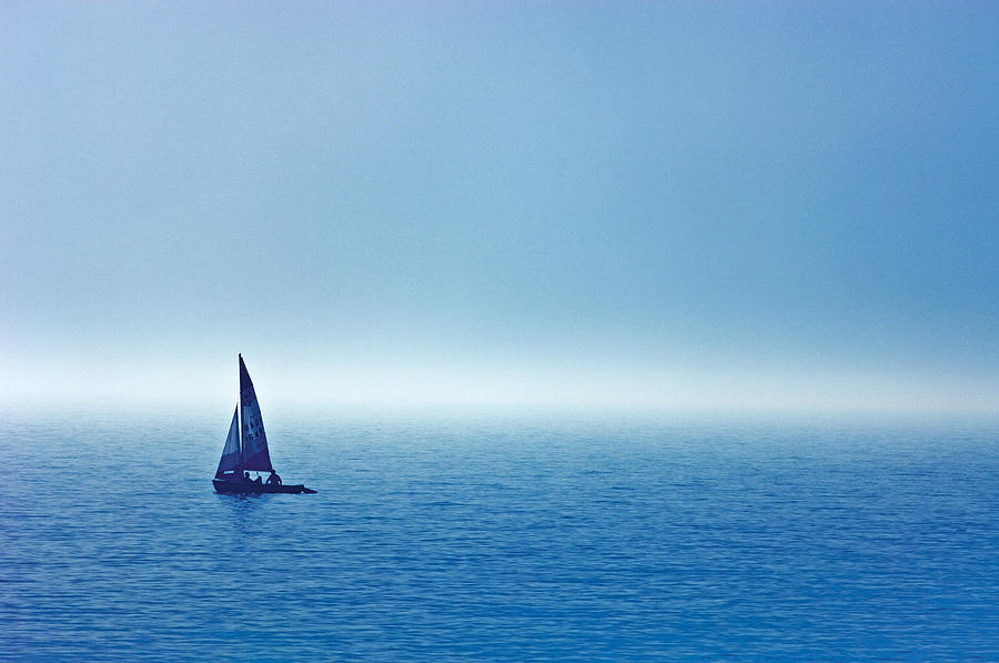 Sailboat On The Water Wahnekewaning Photograph By Mike