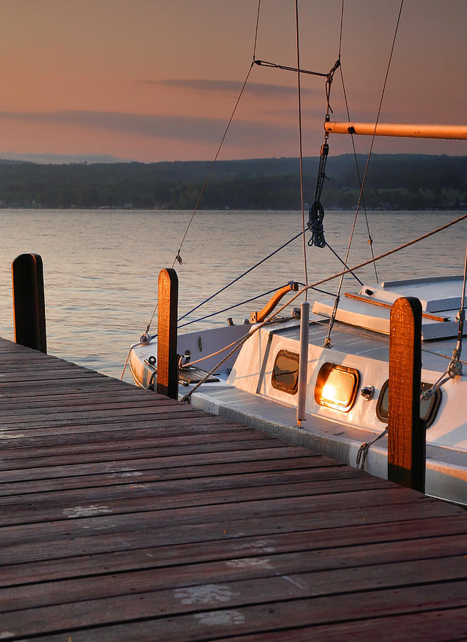 Dawn Photograph - Sailboat Sunrise II by Steven Ainsworth