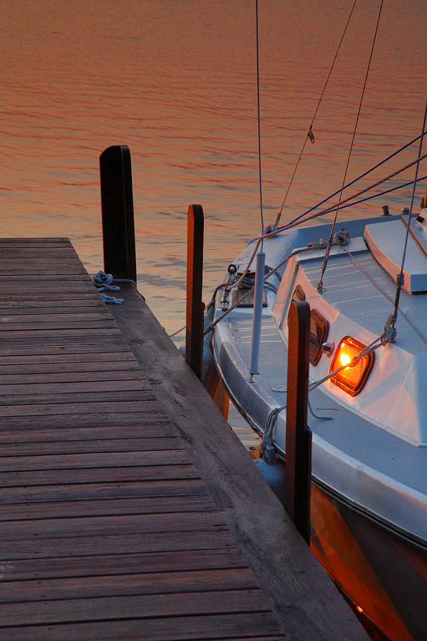 Dawn Photograph - Sailboat Sunrise by Steven Ainsworth