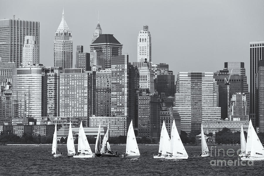 Clarence Holmes Photograph - Sailboats On The Hudson V by Clarence Holmes