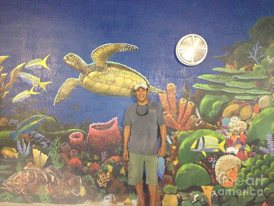 Mural Painting - Sailfish Splash Park Mural 7 by Carey Chen