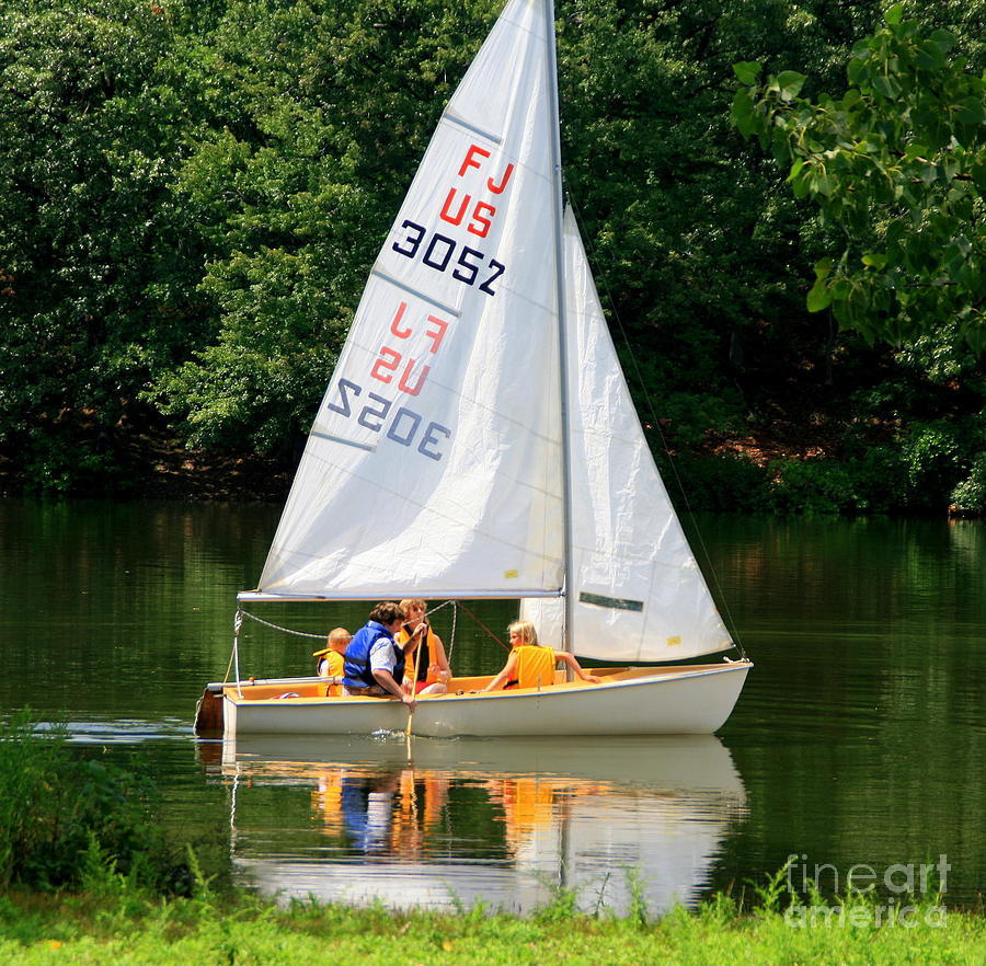 Boats Photograph - Sailing   by Lennie Malvone