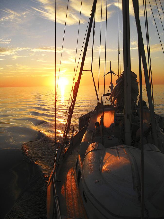 Boom Digital Art - Sailing by Anne Mott