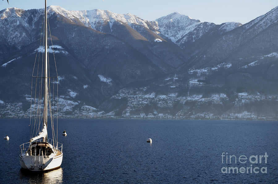 Sailing Boat Photograph - Sailing Boat On A Lake by Mats Silvan