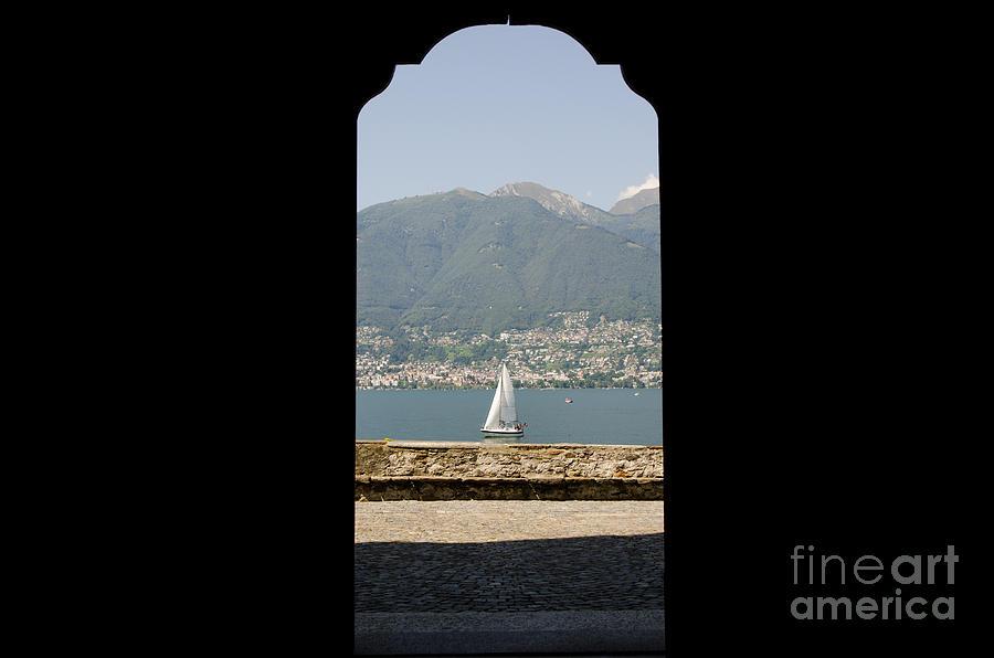 Sailing Boat Photograph - Sailing Boat Through An Open Door by Mats Silvan