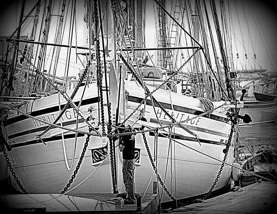 Seascape Photograph - Sailing Heritage  by Doug Mills