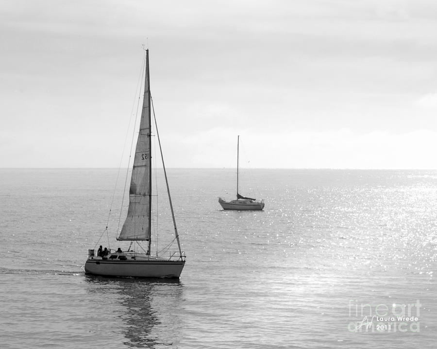 Sailing Photograph - Sailing In Calm Waters by Artist and Photographer Laura Wrede