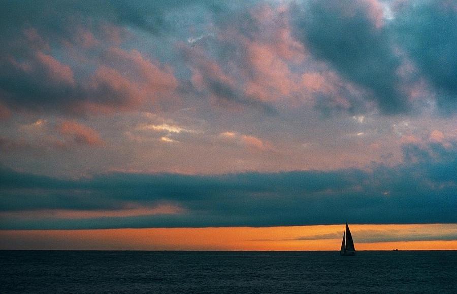 Sailing Photograph - Sailing In Chiavari by Andrea Gabrieli