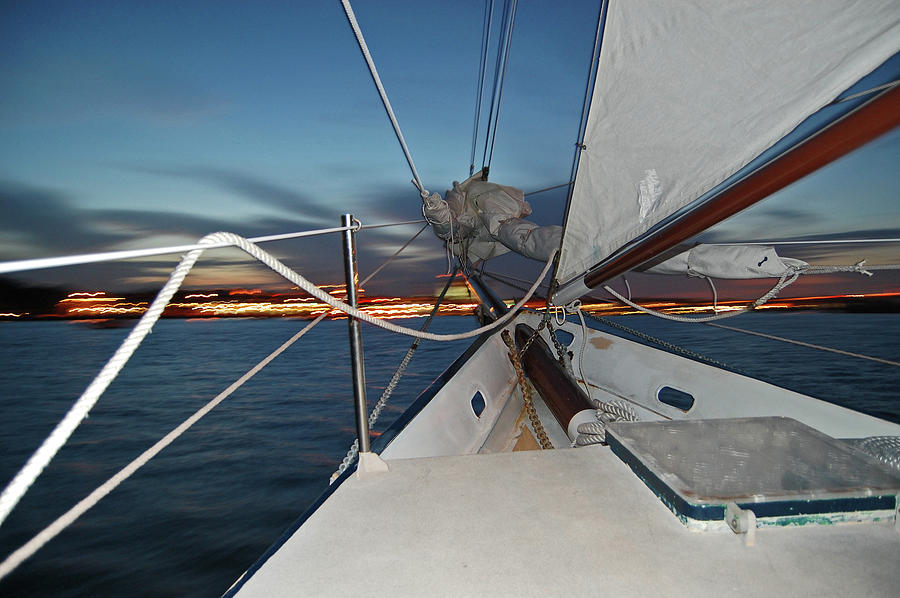 Sailing Photograph - Sailing In The Bay by Jim and Kim Shivers